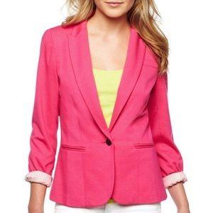 NWT Cabaret Pink Knit Blazer